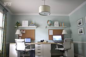 home office small offices. Home Office Designs For Two New Design Ideas Small Offices Of Furniture Work Interior Decorating Desks Desk And Shelves With Drawers Idea Table Chairs Decor