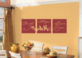 Small Picture Faith Hope Love Scroll Block Paneling Religious Christian Decor