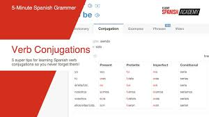 Spanish Verb Tenses Chart 5 Simple Tips For Learning Spanish Verb Conjugations With Ease