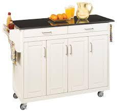 kitchen island cart white. Home Styles Create A Cart 49 Inch Black Granite Top Kitchen White Island