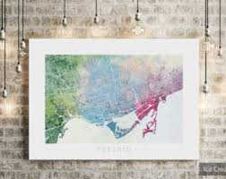 Small Picture Toronto map Etsy