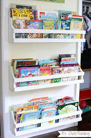 wall mounted bookshelf nursery