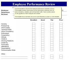 Easy Performance Review Template Employee Performance Review Template Template Employee