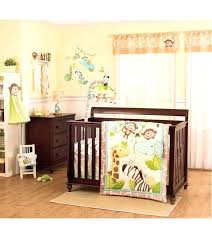 enchanting jungle baby bedding carter s play piece crib set sock monkey sets