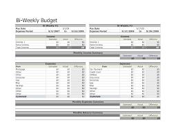 Excel Biweekly Budget Template Bi Weekly Budget Spreadsheet Excel Personal Free Printable