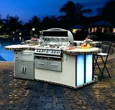 built in grills half gas charcoal grill fire magic barbecue and intended for portable outdoor kitchen