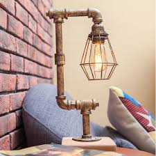 Creative decorative table lamp <b>American industrial style</b> retro ...