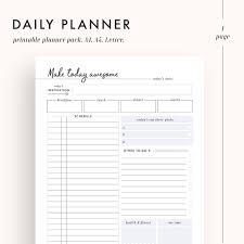 Free Sample Daily Student Planner Top Daily Planner