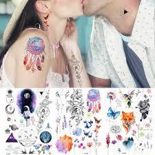 большой акварельное тату наклейки для женщин рука флэш ловец снов
