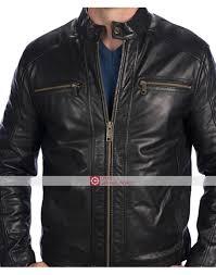 andrew marc mens laser leather moto jacket