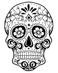 Small Picture Printable Day of the Dead Sugar Skull Coloring Page 1 Mama