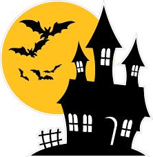 halloween gallery wall decor hallowen walljpg halloween haunted house with bats wall decor
