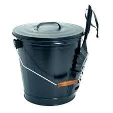 metal ash bucket replace ash bucket black metal with shovel lid handle for coal wood stove