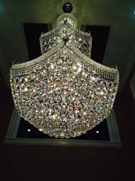 beautiful sparkling crystal chandelier hand cleaned and polished
