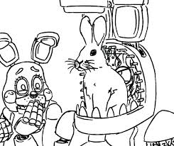 Fnaf Coloring Pages Bonnie Print Five Nights At Foxy Mangle Coloring