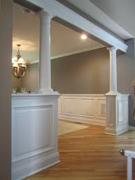 Column Molding Ideas To Cover That 2 X 4 Maybe Make A Set Done In Shades Of Grey Like