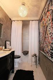 Impressive Split Shower Curtain Ideas Amusing Double Curtains High With Design Decorating