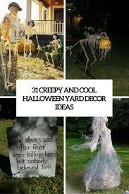 31 Creepy And Cool Halloween Yard Decor Ideas Digsdigs Diy Halloween  Decorations For Outside Scary Halloween Window Ideas