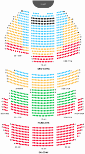 Rochester Auditorium Theatre Seating Msg Seating Chart