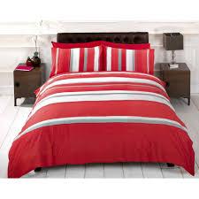 r h linens detroit red grey white striped duvet cover quilt bedding set single bed size on on