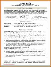 sample computer programmer resume computer programmer resume letter format business
