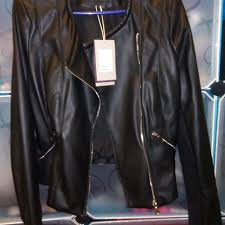 trafaluc outerwear zara leather jacket preloved women s fashion trafaluc outerwear zara leather jacket preloved women s fashion clothes on carou