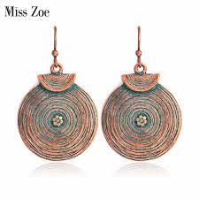 Miss Zoe <b>Fashion</b> Baroque <b>Antique</b> silver Drop Earrings Ethnic ...