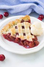 cherry pie slice with ice cream. Fine Pie A Slice Of Cherry Pie With A Scoop Vanilla Ice Cream On White Plate In Cherry Pie Slice With Ice Cream