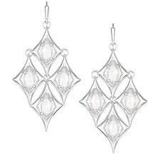 taryn chandelier earrings in silver kendra scott jewelry