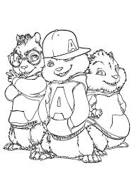 Small Picture 30 Alvin and The Chipmunks Coloring Pages ColoringStar