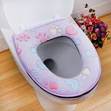 Color Purple Seating Chart Amazon Com 1pc Thicken Soft Toilet Seat Cover Color Purple
