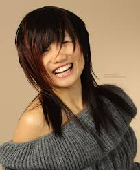 Asian Hair Style shoulder long asian hair with a round silhouette and elongated in 8252 by wearticles.com