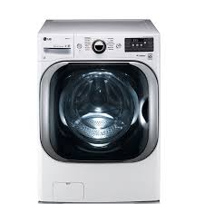 Washer And Dryer Dimensions Front Loading Shop Lg Twinwash Compatible 52 Cu Ft High Efficiency Stackable