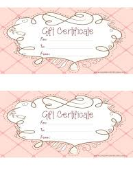 free gift certificate template customize and print at home able gift certificates