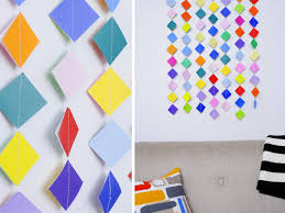 make colorful garland wall art with origami paper on wall decoration art and craft with make colorful garland wall art with origami paper hgtv