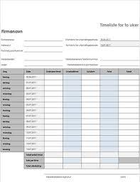 Timeliste For Ansatt