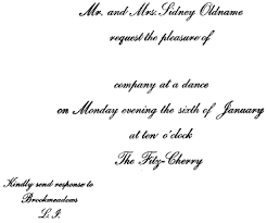 11 invitations, acceptances and regrets post, emily 1922 etiquette Declining A Wedding Invitation if the dance is given for a young friend who is not a relative, mr and mrs oldname's invitations should declining a wedding invitation etiquette