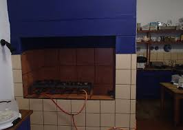 Kitchen Fireplace For Cooking Our New Kitchen Over The Mountain Guest Farm