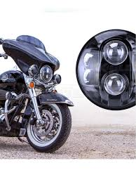 Dot Approved Motorcycle Lights Xk Glow Dot 7in Black Chrome Motorcycle Led Headlight With