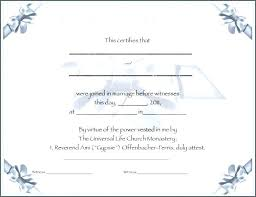 Fake Marriage Certificate Template Free Updrill Co