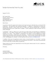 Best Ideas Of Sample Thank You Letter After Internship Work On