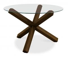 bentley designs lyon walnut glass top round dining table