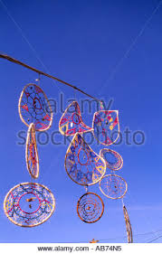 Dream Catcher Vancouver Colorful dream catchers on display in the streets of Stock Photo 64