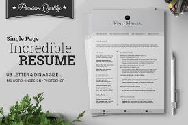 Incredible Single Page Resume - Resumes