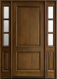Entry Door in-Stock - Single with 2 Sidelites - Solid Wood with ...