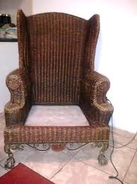 rattan wingback chair beautiful rattan wicker chair with cast iron ball and claw feet collectors weekly wicker wingback chair