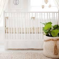 uni white nursery crib bedding gold dust collection