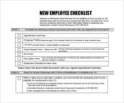 New Hire Checklist Sample 16 Documents In Pdf