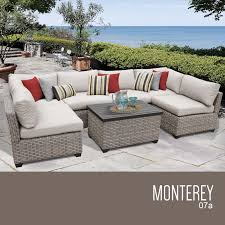 home interior liberal monterey outdoor furniture 7 piece wicker patio set 07a free from monterey