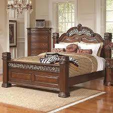 ornate bedroom furniture. grand ornate pillar post iron u0026 wood queen bed bedroom furniture ornate bedroom furniture h
